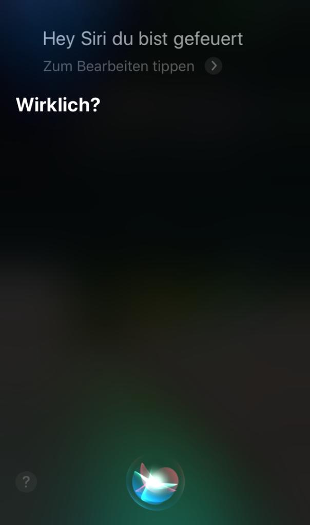 Siri wird gefeuert